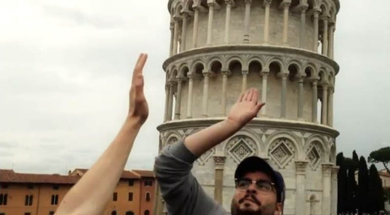 high five leaning tower of pisa Ten Alternatives to Leaning on the Tower of Pisa