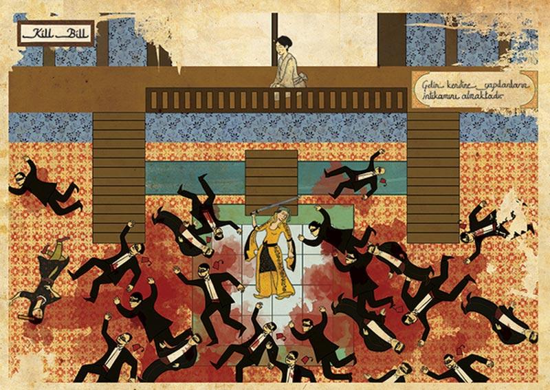 kill bill movie as ottoman motif 11 Classic Movie Scenes as Ottoman Motifs