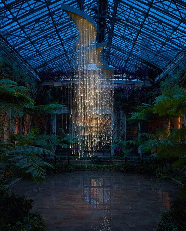 light shower installation by bruce munro longwood gardens Bruce Munros Light Installations at Longwood Gardens