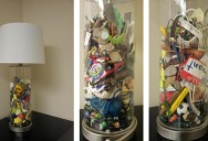 Mom Gives Son Lamp Filled With Items She Found Doing His Laundry Growing Up