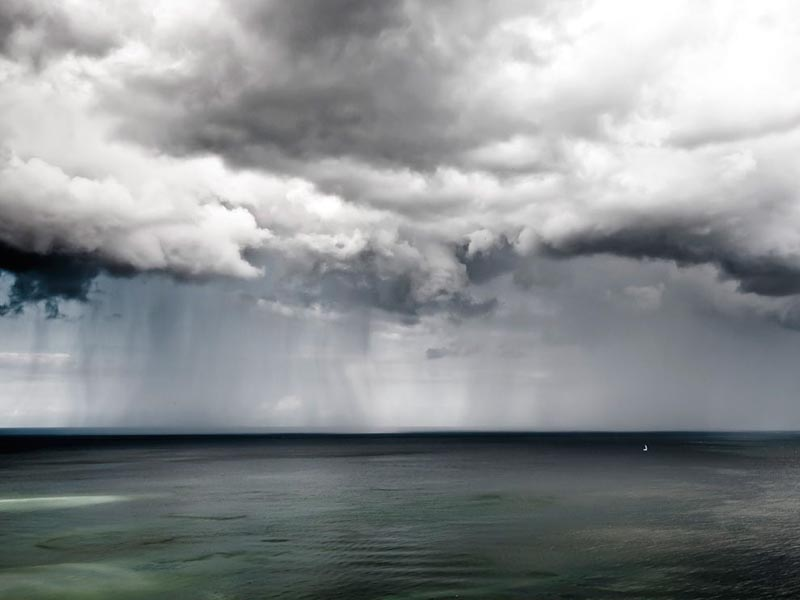sailboat at sea in germany with storm Picture of the Day: Lone Sailboat at Sea in Germany