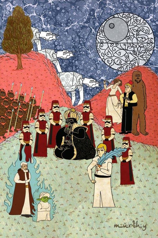 star wars movie as ottoman motif 11 Classic Movie Scenes as Ottoman Motifs