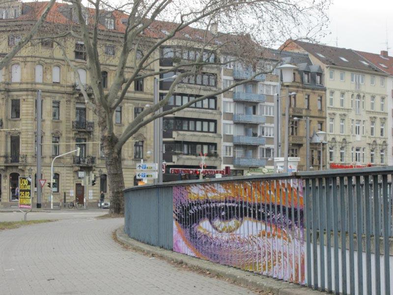 street art on railings by zebrating art 14 Amazing Street Art on Railings by Zebrating