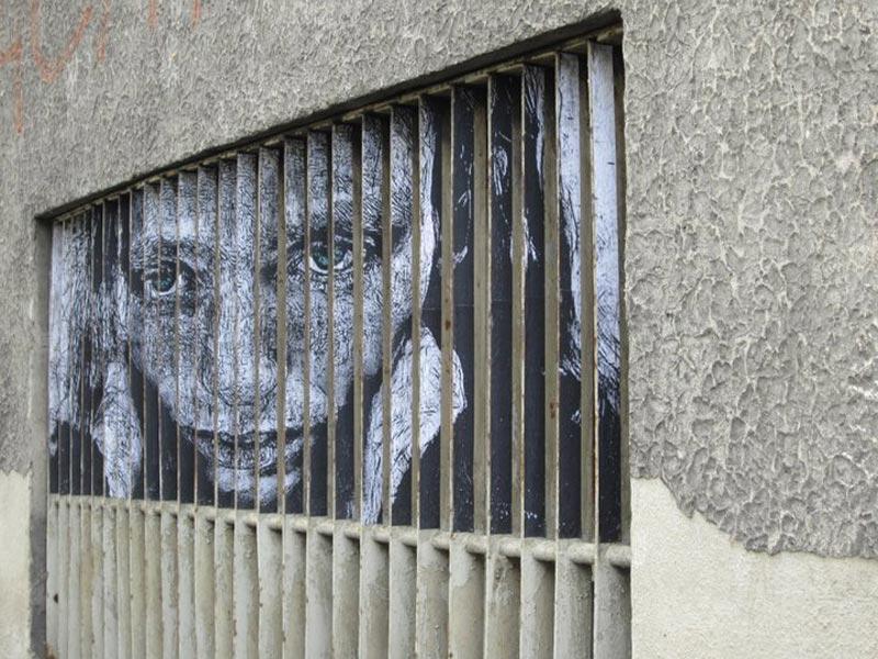 street art on railings by zebrating art 3 Amazing Street Art on Railings by Zebrating