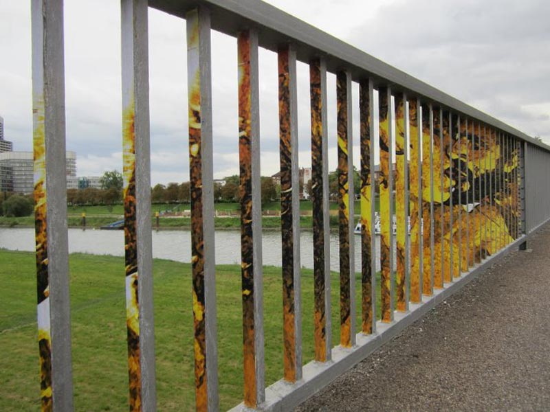 street art on railings by zebrating art 8 Amazing Street Art on Railings by Zebrating