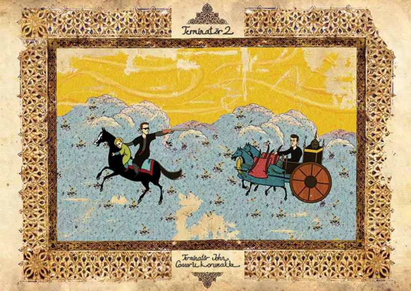 terminator 2 movie as ottoman motif 11 Classic Movie Scenes as Ottoman Motifs