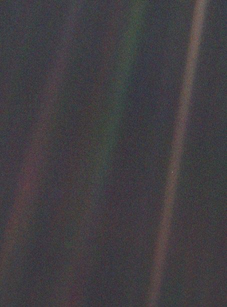 the pale blue dot by nasa voyager 1 carl sagan famous words