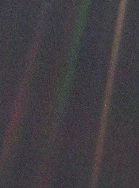 the pale blue dot by nasa voyager 1 carl sagan famous words