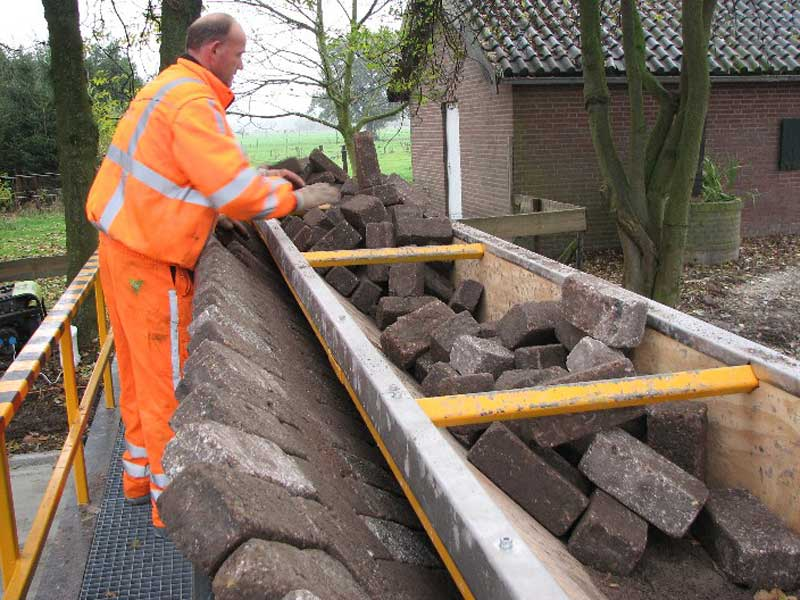 tiger stone interlocking brick road machine printer lays bricks 11 This Machine Prints Brick Roads