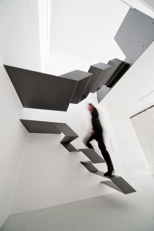 scary floating staircase