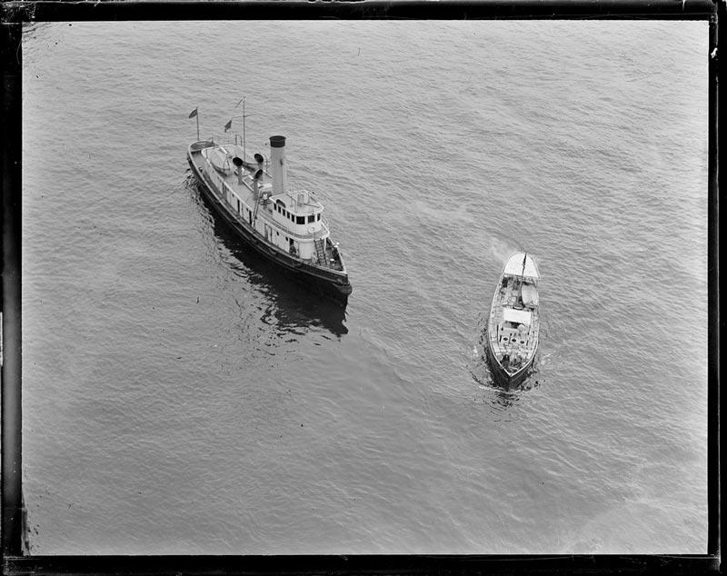 Coast Guard Seizes a Rum Runner at sea