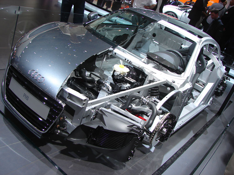 audi r8 cutaway cut in half 2 The Evolution of the BMW Art Car