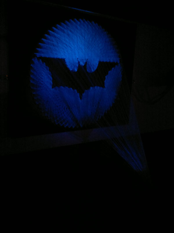 batman symbol made from thread string 6 Awesome Batman Symbol Made from Thread
