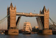Picture of the Day: 100 Years of History Sails Through the Tower Bridge