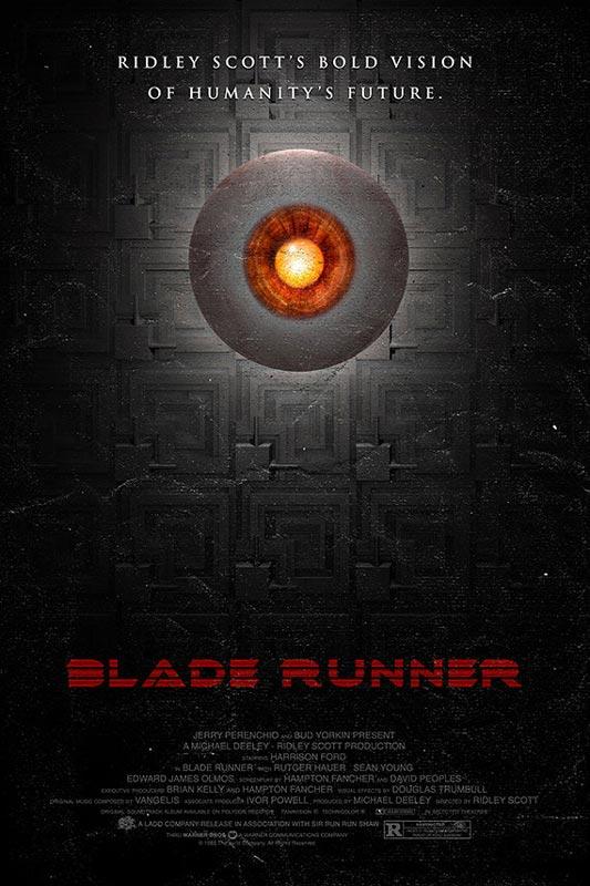 blade runner alternate movie poster by adam rabalais Creative Alternate Movie Posters by Adam Rabalais