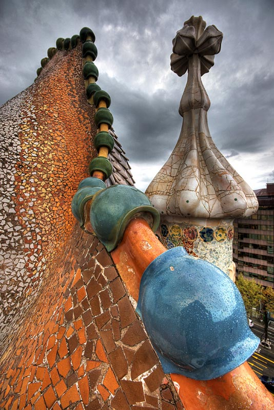 casa batllo roof The Iconic Casa Batllo by Antoni Gaudi