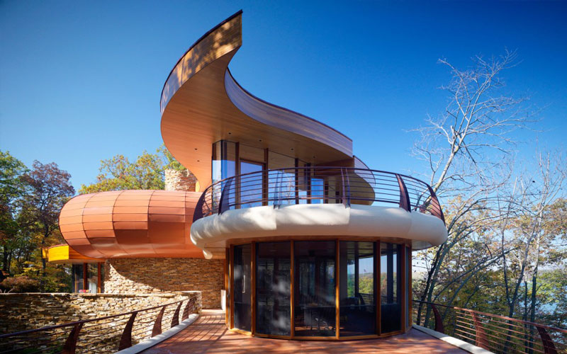 curvaceous chenequa residence by robert harvey oshatz 10 The Curvaceous Chenequa Residence by Robert Harvey Oshatz