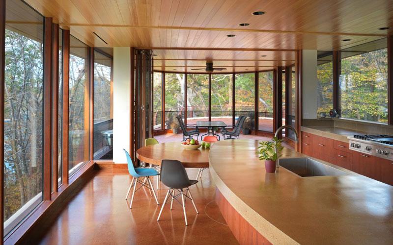 curvaceous chenequa residence by robert harvey oshatz 11 The Curvaceous Chenequa Residence by Robert Harvey Oshatz