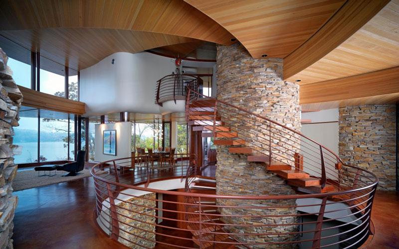 curvaceous chenequa residence by robert harvey oshatz 12 The Curvaceous Chenequa Residence by Robert Harvey Oshatz