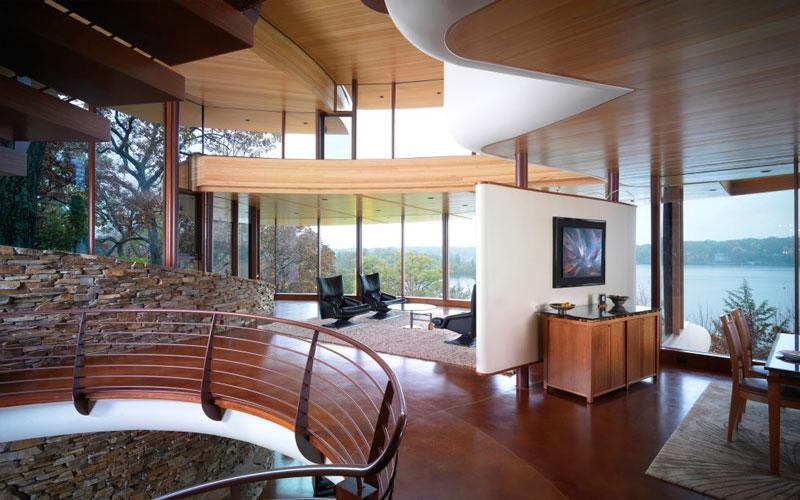 curvaceous chenequa residence by robert harvey oshatz 6 The Curvaceous Chenequa Residence by Robert Harvey Oshatz