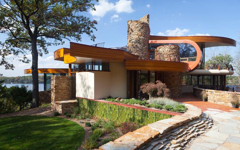 curvaceous chenequa residence by robert harvey oshatz 8 A Unique Hillside Home Built Into the Landscape