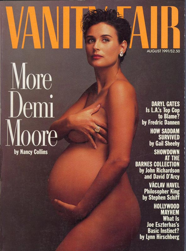 demi moore pregnant magazine cover vanity fair controversial The Story Behind the Blacked Out Photo of New York