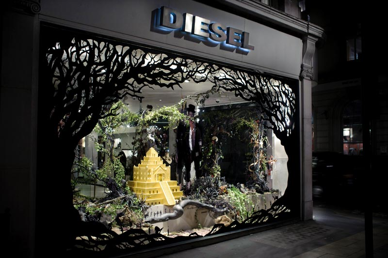 diesel store window Inventive Hand Crafted Art by Kyle Bean