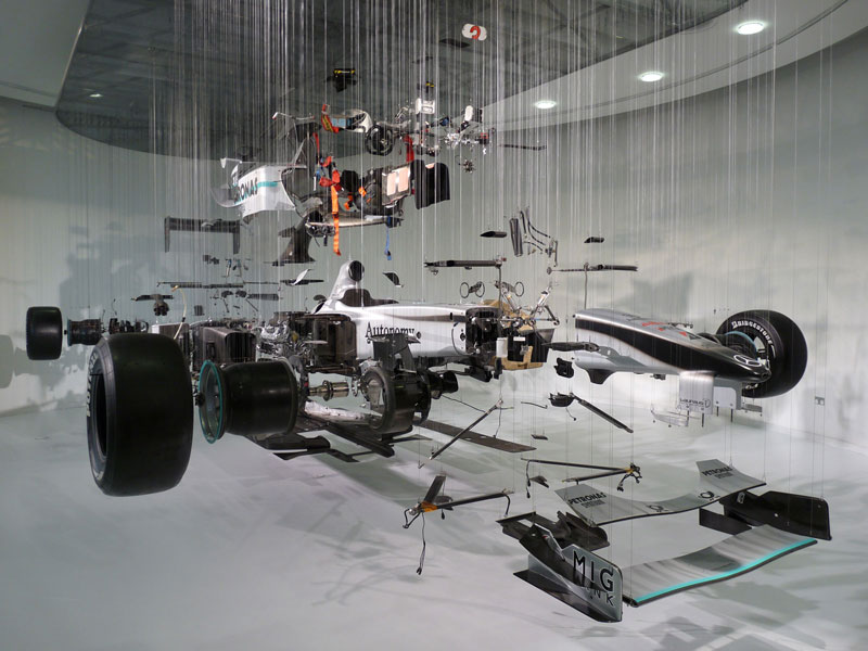 f1 car suspended deconstructed 15 Amazing Car Cutaways