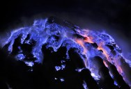 Picture of the Day: Close-up of Flaming Molten Sulfur