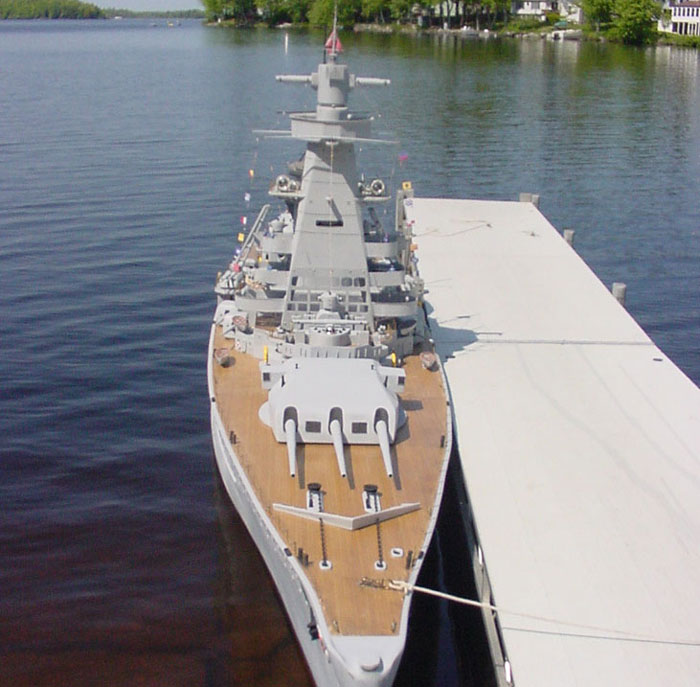 giant model warship replica admiral graf spee by william terra 13 Man Builds 30 ft Model Replica of a Battleship