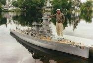 Man Builds 30 ft Model Replica of a Battleship