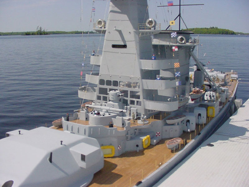 giant model warship replica admiral graf spee by william terra 9 Man Builds 30 ft Model Replica of a Battleship