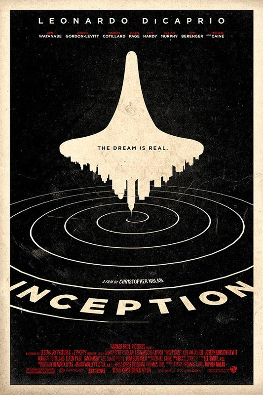 inception alternate movie poster by adam rabalais Creative Alternate Movie Posters by Adam Rabalais