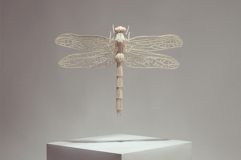 insects made from match sticks Inventive Hand Crafted Art by Kyle Bean