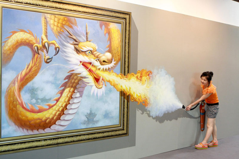 interactive 3d magic art exhibit in china 10 The 3D Art Exhibit that Lets You Interact with the Artwork