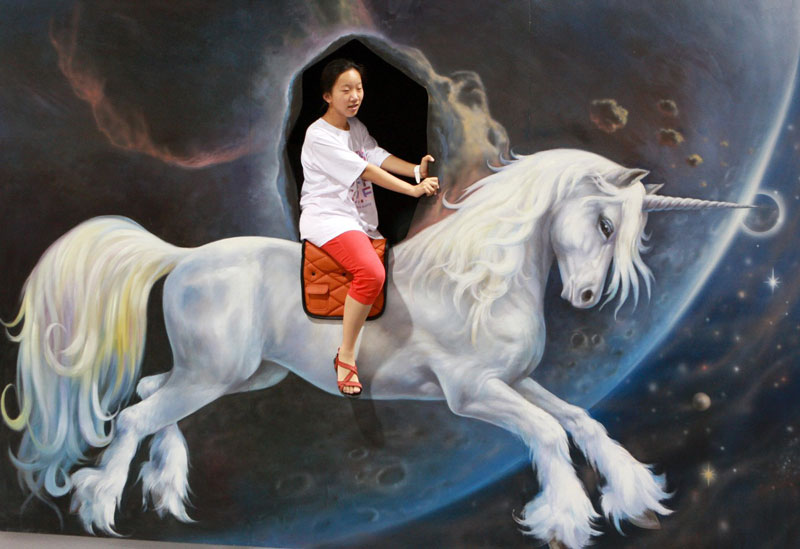 interactive 3d magic art exhibit in china 11 The 3D Art Exhibit that Lets You Interact with the Artwork
