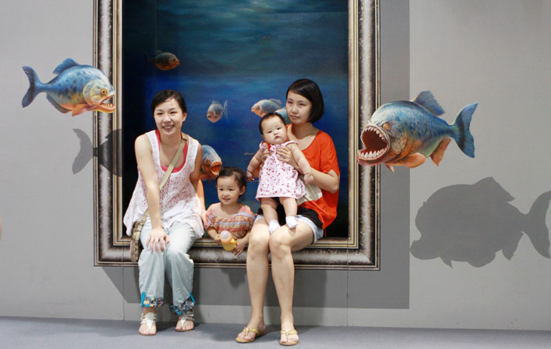 interactive 3d magic art exhibit in china 12 The 3D Art Exhibit that Lets You Interact with the Artwork