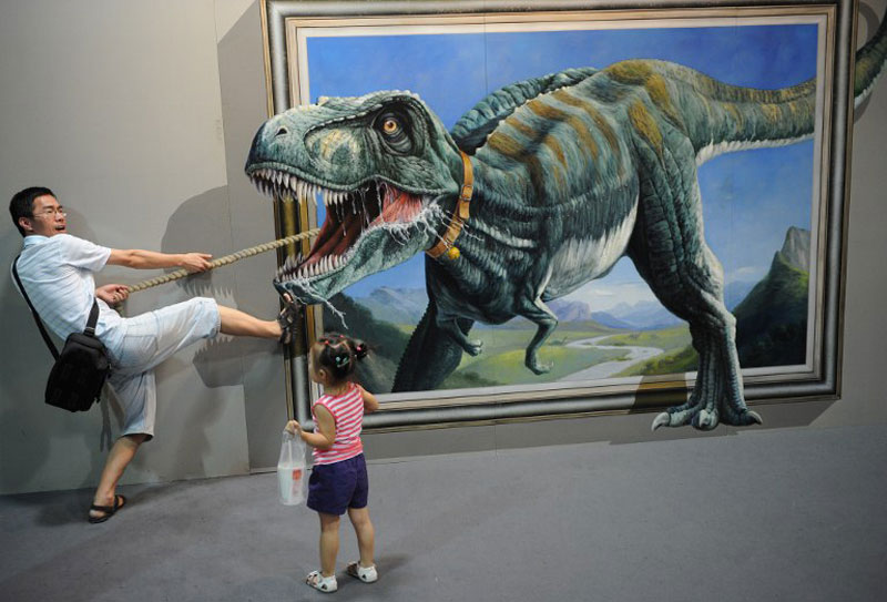 interactive 3d magic art exhibit in china 3 The 3D Art Exhibit that Lets You Interact with the Artwork