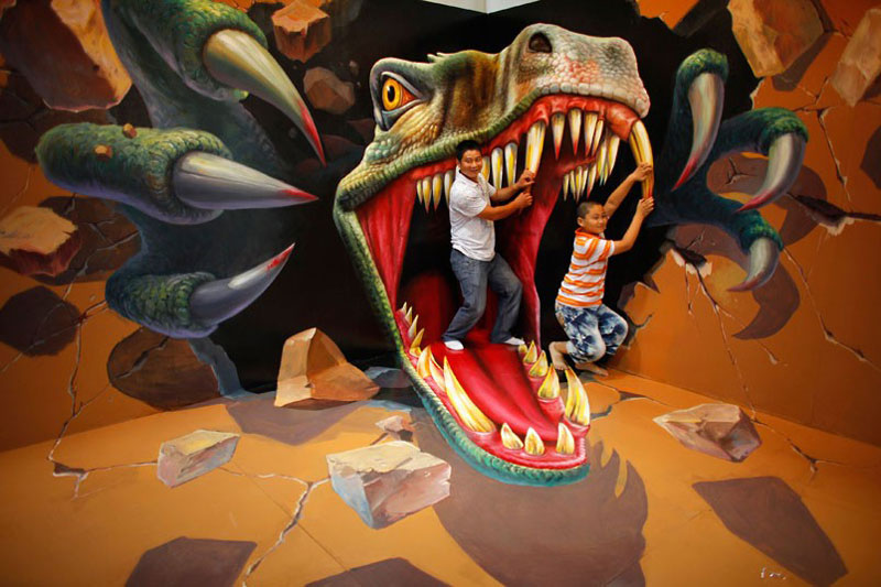 interactive 3d magic art exhibit in china 4 The 3D Art Exhibit that Lets You Interact with the Artwork