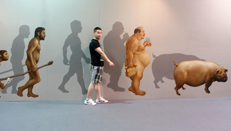 interactive 3d magic art exhibit in china 9 The 3D Art Exhibit that Lets You Interact with the Artwork