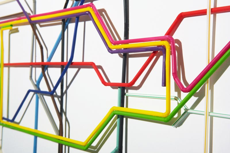 london tube map made from drinking straws kyle bean 2 Inventive Hand Crafted Art by Kyle Bean