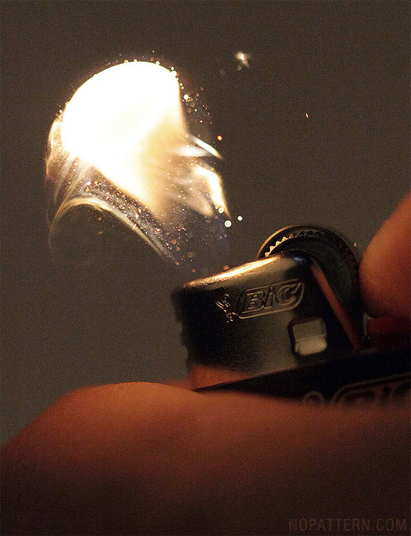 macro close ups of bic lighter sparks lit by no pattern chuck anderson 3 Amazing Close Ups of a Lighter Being Sparked