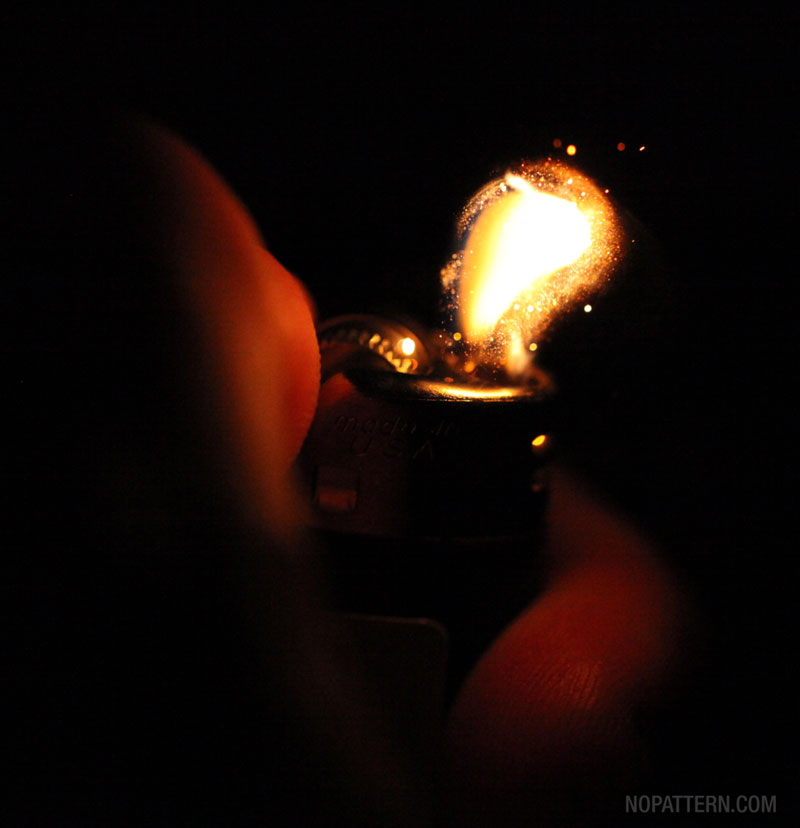 macro close ups of bic lighter sparks lit by no pattern chuck anderson 7 Amazing Close Ups of a Lighter Being Sparked
