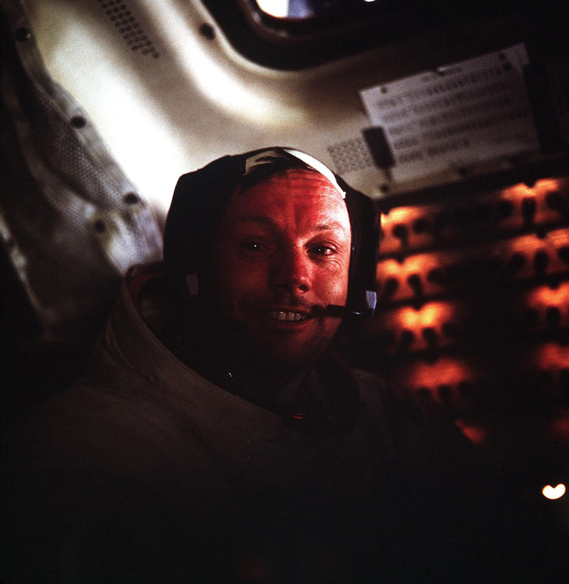 neil armstrong portrait in lunar module after historic moonwalk Picture of the Day: The Power of One Small Step