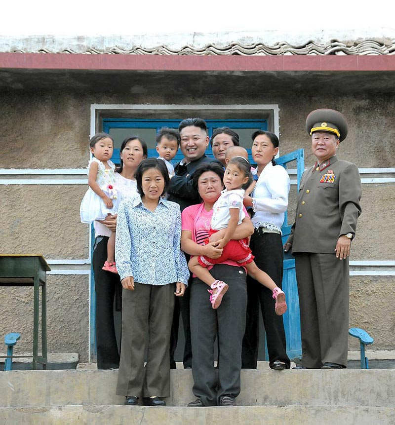 north korea family meets the leader portrait not smiling The Shirk Report   Volume 176