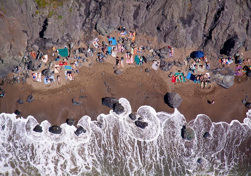 nude beach aerial maison gray Beaches Around the World Seen from Above