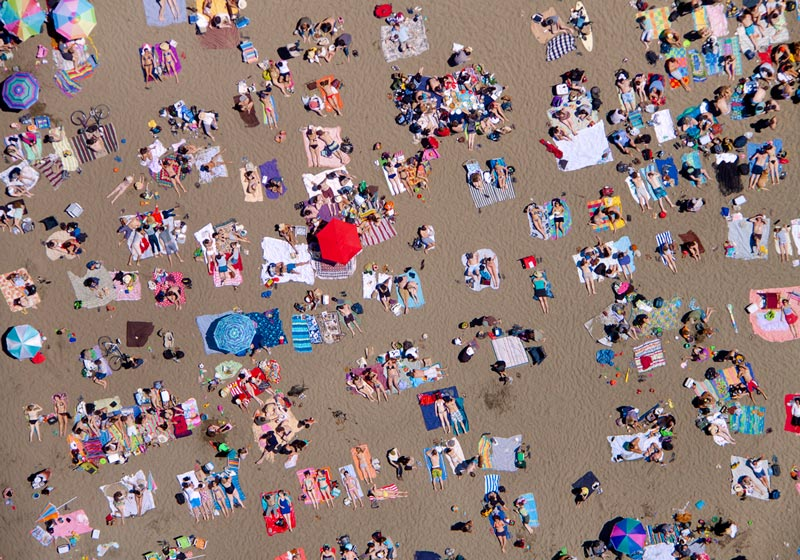 ocean beach horizontal aerial maison gray Beaches Around the World Seen from Above
