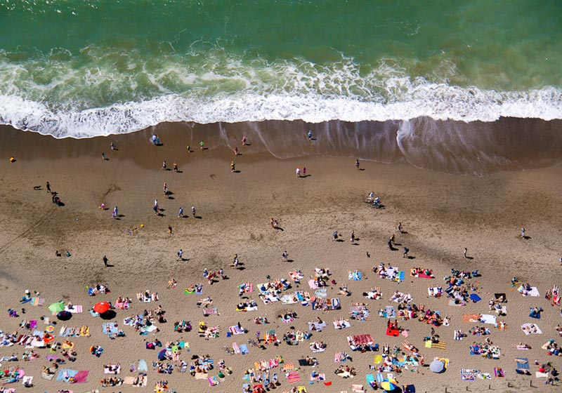 ocean beach with water aerial maison gray Beaches Around the World Seen from Above