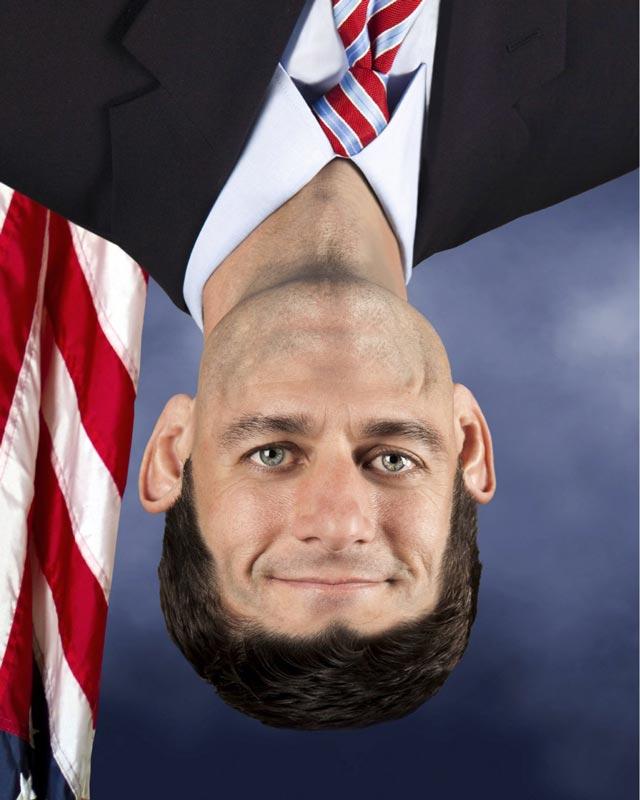 paul ryan funny photoshop upside down face Photoshop Fun with Paul Ryan [15 pics]