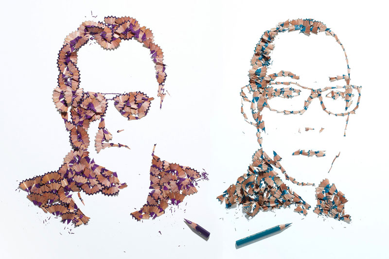 pencil shaving portraits kyle bean Inventive Hand Crafted Art by Kyle Bean